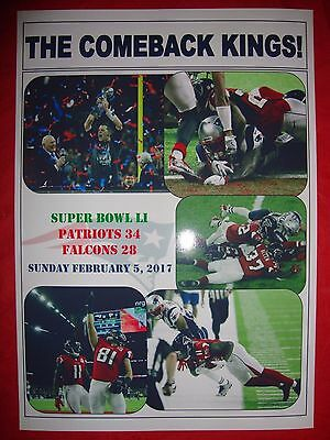 New England Patriots 34 Atlanta Falcons 28 - Super Bowl LI (51) - souvenir print