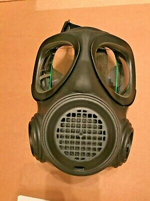 Forsheda A4 40mm Respirator Gas Mask - Size 2 M - New Old Stock Green Frame