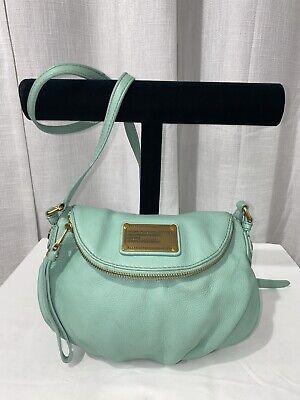 MARC BY MARC JACOBS Q Natasha MINI Teal Pebbled Leather Crossbody Bag
