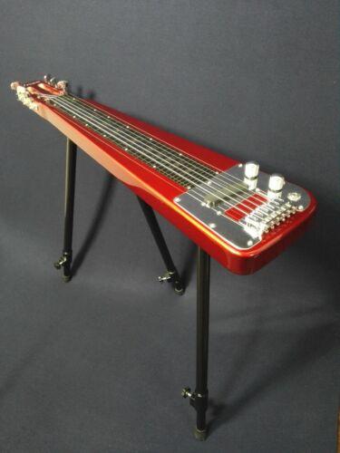 Haze Solid Body Electric LAP Steel Guitar, Metallic Red +Glass Tone Bar. LT 1930