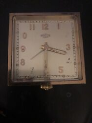 Vintage Angelus Super Travel 8 Day Clock 15 Jewels Restoration