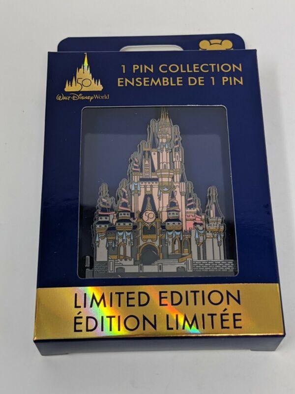 WDW 50th Anniversary Cinderella Castle Walt Disney World LE Jumbo Pin
