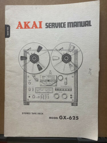 Original Service Manual & Parts List ~ Akai GX-625 Tape Recorder Deck