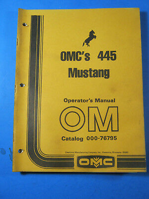 Mustang Omc 445 Skid Steer Loader Operators Manual Oem Factory