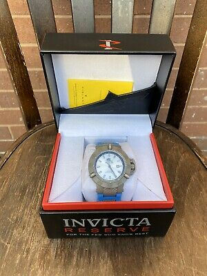 Invicta Mens Watch Rubber Strap Blue Box Papers