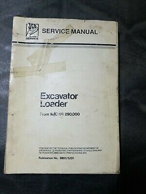 Jcb Service Manual Excavator Loader From Mc No. 290000