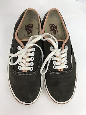Vans Vintage Old Skool Size Mens 9.5 Womens 11 Grey Laced Canvas Sk8 Shoes