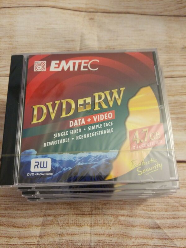 Lot of 9 Emtec DVD+RW Data&video 4.7GB 2.4x Certified.  New. Factory sealed