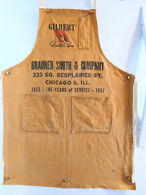 Vintage Rare  Advertising cloth Apron  Bradner Smith & Co  Gilbert quality paper