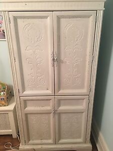 Solid wood dresser armoire