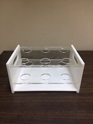 Large Plastic Test Tube Rack-holds 6 Hole Size 1.5 Inches