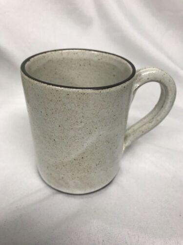 Zaalberg Holland Modernist Pottery MUG  MCM Brown white glaze Clay & Fire 1958