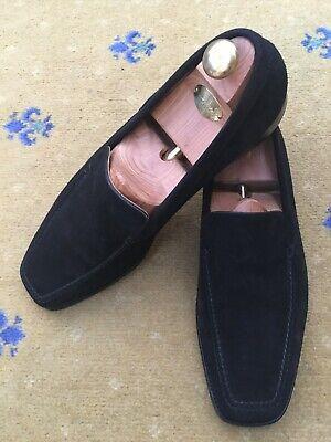 John Lobb Mens Shoes Black Suede Loafers UK 12 US 13 EU 46 Englien