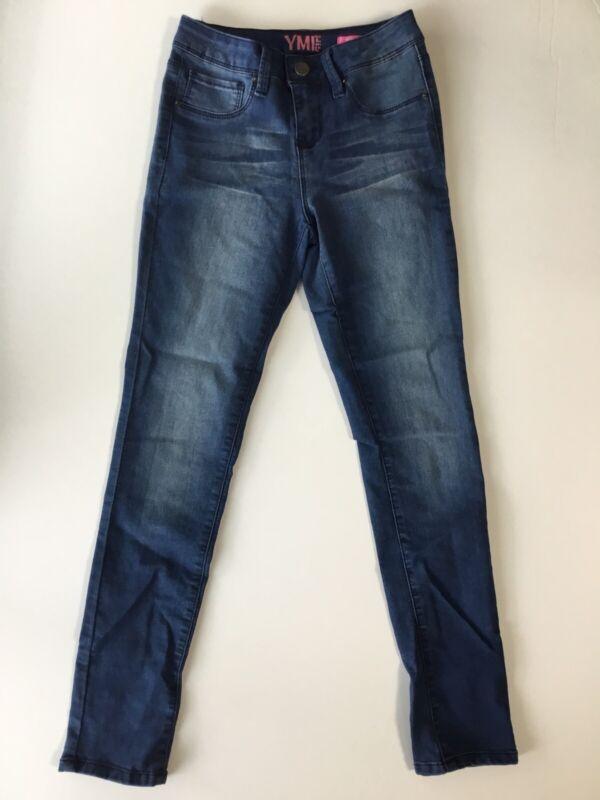 YMI Girls Skinny Jeans Size 10 Denim Stretch Blue Jeans (D)
