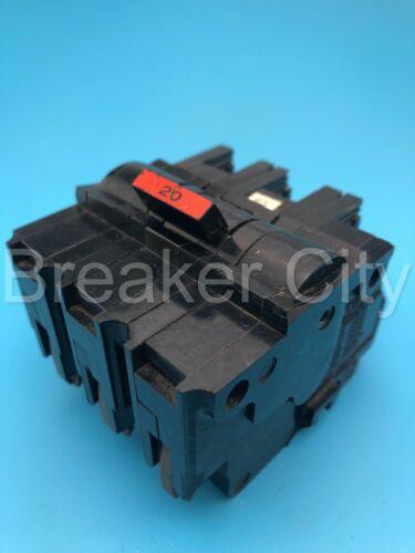 Federal Pacific / FPE NA320 20 Amp 3 Pole Type NA Stab-lok Breaker *Chipped*