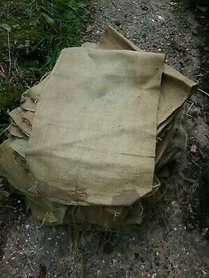 British Army 810x350mm Heavy Duty Hessian Sandbags Sacks Flood Defence Sand Bags