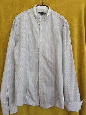 Men's John Varvatos Striped Grandad Shirt Size S