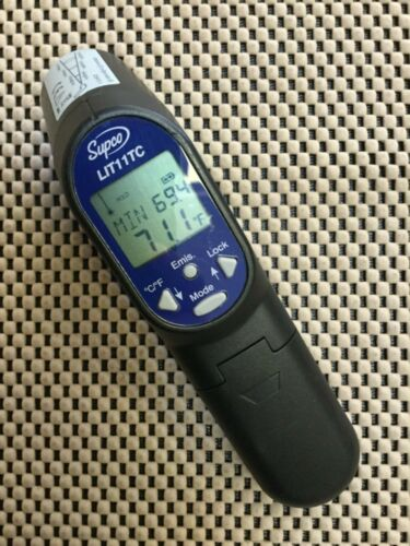 SUPCO LIT11TC LASER INFRARED THERMOMETER WITH PROBE