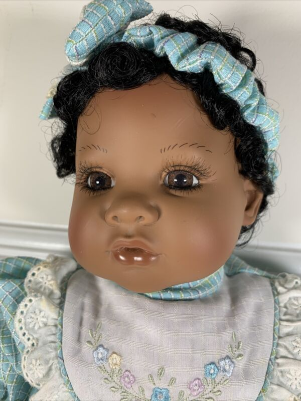 """19"""" Adora Baby Doll Toddler Pretty Dress with Black Hair African"""
