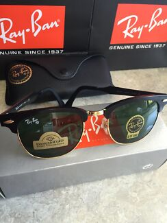 New Authentic Ray Ban Black Aluminium Clubmaster Sunglasses RRP $240 East Gosford Gosford Area Preview