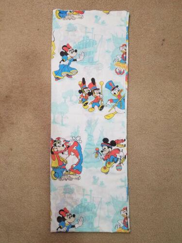 Vintage Walt Disney Disneyland MICKEY MOUSE TWIN FLAT SHEET or Fabric RARE