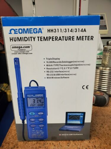 NEW - Omega HH311 Humidity Temperature Meter with Thermocouple Kit & Software