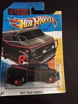 Hot Wheels 2011 New Models A TEAM VAN GMC PANEL Replica Black A Team 1/64