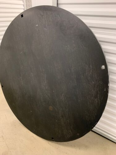 "DESIGNER FURNITURE - 60"" ROUND WOOD TABLE TOP (ONLY)  BLACK FINISH - MODERN"