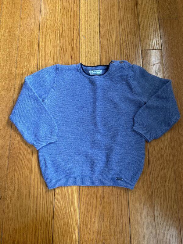 Mayoral Baby Boy Sweater 18 Months Blue 100% Cotton