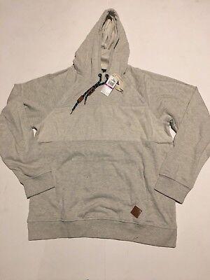 NWT Men's UNIVIBE 2xl gray thick Long-Sleeve Hoodie Shirt Sz NEW $45