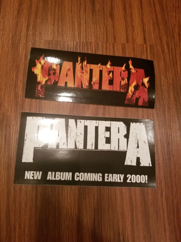 2 Pantera Stickers From 2000 Promotional Heavy Metal Reinventing the Steel