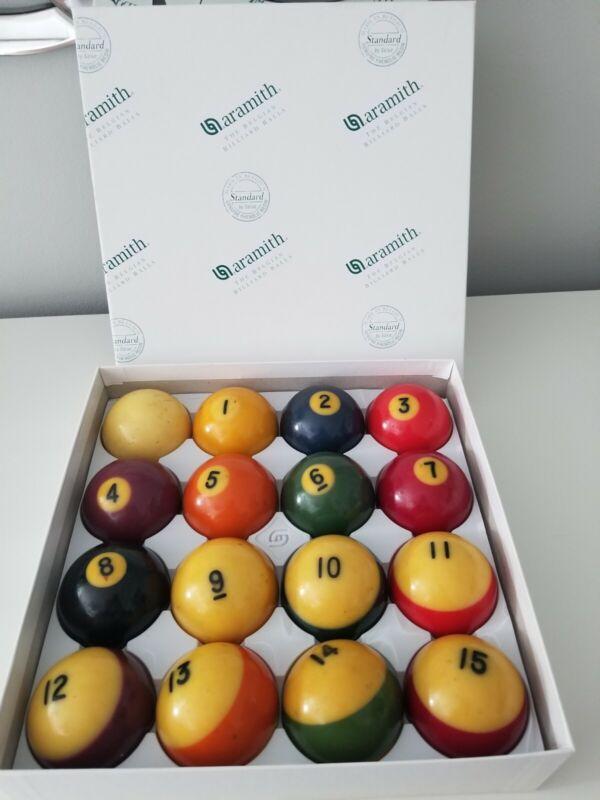 NICE VINTAGE ARAMITH BELGIAN COMPLETE SET BILLIARD POOL BALLS IN ORIGINAL BOX