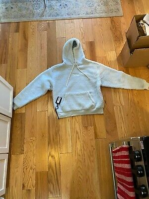 Kith Classic Sherpa Logo Hoodie Size L Illusion Blue Monday Program Sweatshirt Blue Classic Logo Hoody Sweatshirt