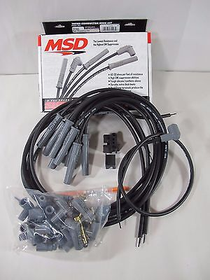 MSD Ignition 31193 Black 2-in-1 Universal 8.5mm Spark Plug Wire Set 8-Cylinder