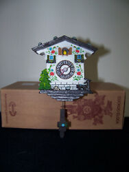 Magnet Classic Cuckoo Clock, Clock works w/batteries, pendulum swings - German