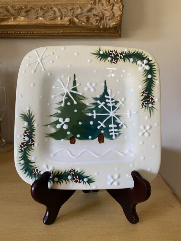 Expressly Yours Winter Holiday Christmas Plate Signed and dated 2000
