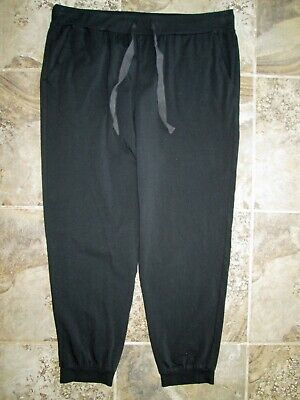 J.Crew Dreamy Pajama Jogger Pants Large Black Cotton Stretch Drawstring Lounge Cotton Stretch Drawstring Pant