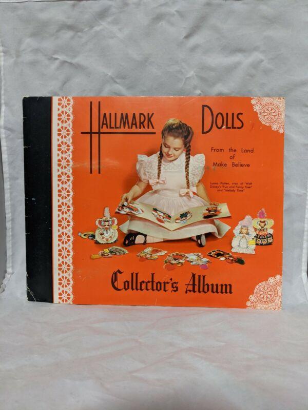 Hallmark Card Collectors Album Scrapbook w/ 16 Land of Make Believe Paper Dolls