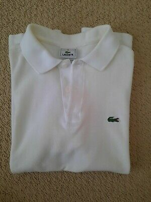 Lacoste Polo Shirt Kids Youth Size 16 White