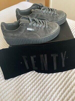 Puma x Rihanna Fenty Creepers Gray Velvet Suede Women Size 5.5