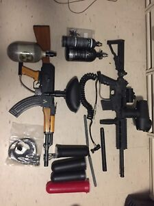 Paintball - 2 set of paintball marker and equipment