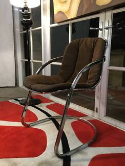 Cool Retro-Vintage Eames-70s Chrome Chair-Can Deliver