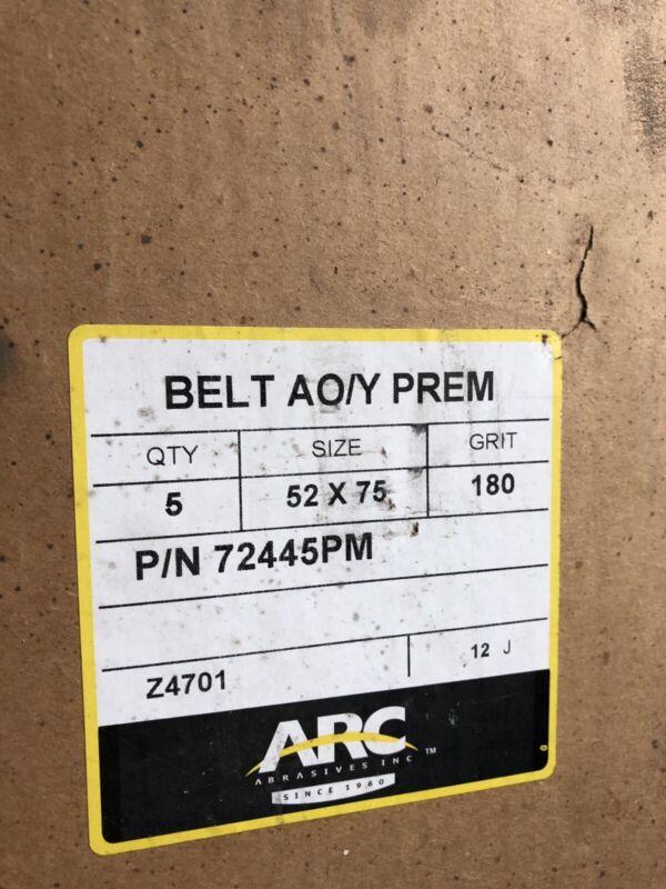 """Arc Abrasives Lot of 35 SANDING BELTS for TIMESAVER BELT SANDER (52x75"""")"""