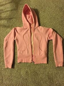 Pink lulu lemon hoodie size 4
