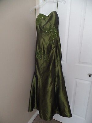 Fiesta Shawl - Fiesta Formals Mermaid Beaded Gown Dress Pageant Size S Formal Prom with shawl