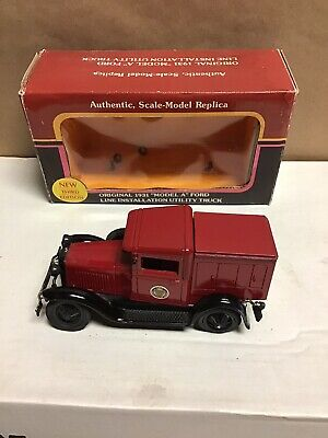 """Die-Cast Metal Replica 1/25 Scale 1931 Model """"A"""" Ford PPL Line Installation/Util"""