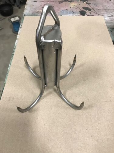 7 Inch Diameter Solid Stainless Welded Pier or Bridge Gaff With Eye For a Rope