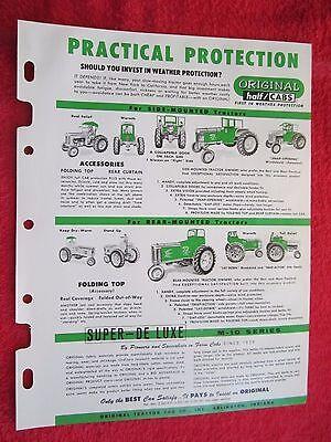 1978 Original Tractor Half Cab Tractor Brochure Model Listdeere Accaseih