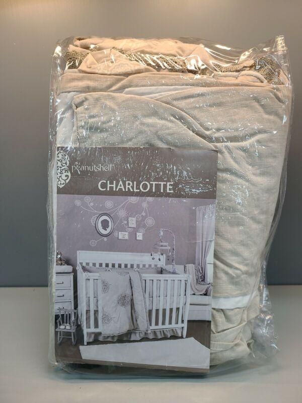The Peanutshell Peanut Shell W Charlotte 3-piece Crib Bedding Set Baby New