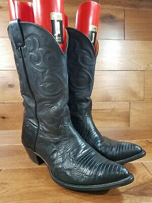 "NOCONA Men""s Lizard Skin Western Cowboy Boots Wide Size 10.5 2E Made In USA"